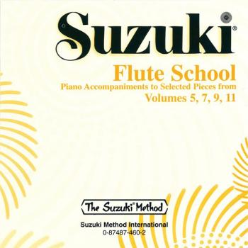 Suzuki Flute School CD, Volume 5, 7, 9 & 11 Piano Acc. (Selected Piece (AL-00-0460)