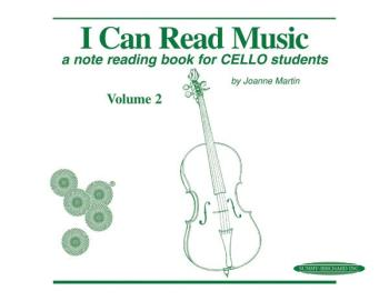 I Can Read Music, Volume 2: A note reading book for CELLO students (AL-00-0429)