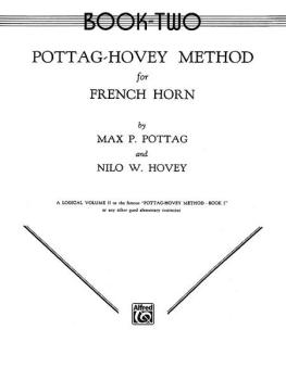 Pottag-Hovey Method for French Horn, Book II (AL-00-EL00106)