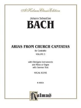 Arias from Church Cantatas, Volume III (6 Sacred) (For Contralto, Obbl (AL-00-K06821)