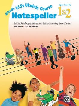 Alfred's Kid's Ukulele Course Notespeller 1 & 2: Music Reading Activit (AL-00-40538)
