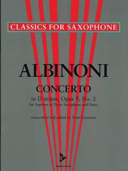 Concerto in D Minor Opus 9, No. 2 (For Soprano or Tenor Saxophone and  (AL-01-ADV7041)