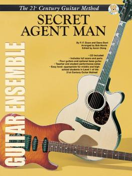 Belwin's 21st Century Guitar Ensemble Series: Secret Agent Man (AL-00-ELM02012)