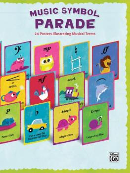 Music Symbol Parade: 24 Posters Illustrating Musical Terms (AL-00-45558)