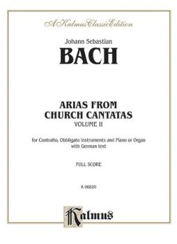 Arias from Church Cantatas, Volume II (12 Sacred) (For Contralto, Obbl (AL-00-K06820)