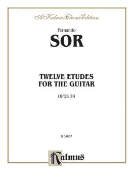 Twelve Etudes for the Guitar, Opus 29 (AL-00-K04667)