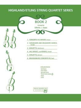 Highland/Etling String Quartet Series: Set 2 (AL-00-12524S)