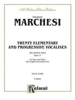 Twenty Elementary and Progressive Vocalises, Opus 15 (AL-00-K06294)