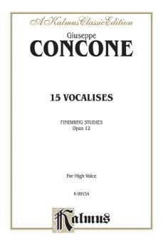 Fifteen Vocalises, Opus 12 (Finishing Studies) (AL-00-K09154)