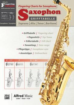 Grifftabelle für Saxophon [Fingering Charts for Saxophone] (AL-00-20229G)