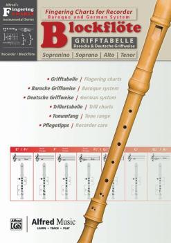 Grifftabelle für Blockflöte [Fingering Charts for Recorder] (AL-00-20232G)