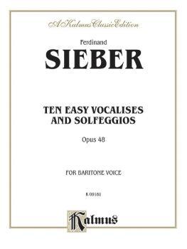 Ten Easy Vocalises and Solfeggios (Opus 48) (For Baritone Voice) (AL-00-K09181)
