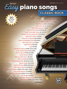 Alfred's Easy Piano Songs: Classic Rock: 50 Hits of the '60s, '70s & ' (AL-00-45154)