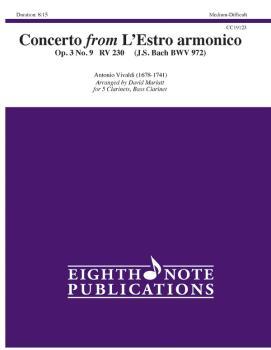 Concerto (from <i>L'Estro armonico,</i> Op. 3, No. 9, RV 230 J. S. Bac (AL-81-CC19123)