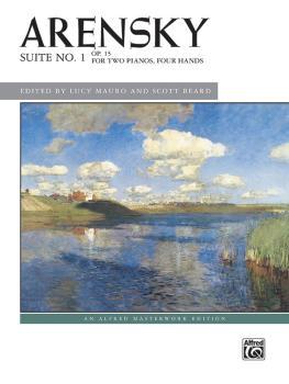 Arensky: Suite No. 1, Op. 15 (For Two Pianos, Four Hands) (AL-00-48637)